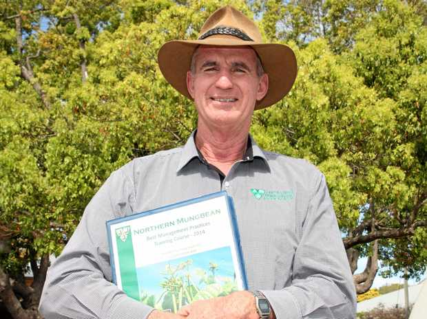 TRUE DEDICATION: Paul McIntosh has been granted life membership to the Australian Mungbean Association after 32 years of service to the industry.