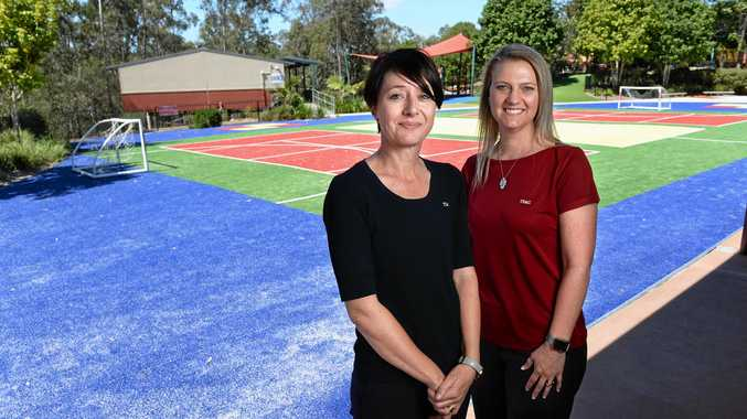 The Springfield Anglican College foundation teachers Robyn Behr and Grier Elliot.