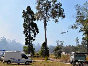 Burrum Heads resident says flames 50ft in air