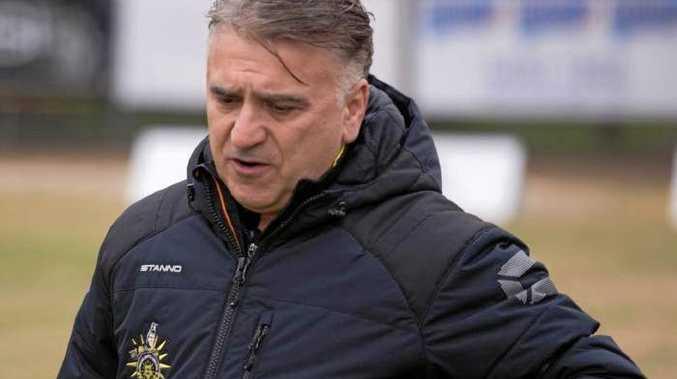 Heidelberg United coach George Katsakis.