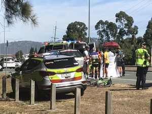 Cyclist dies after crashing into parked car