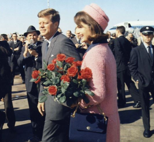 John and Jacqueline Kennedy arrive in Dallas in 1963. Hours later he would be assassinated by Lee Harvey Oswald.