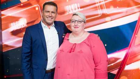 Cassandra Bright with This Time Next Year host Karl Stefanovic in February 2016.