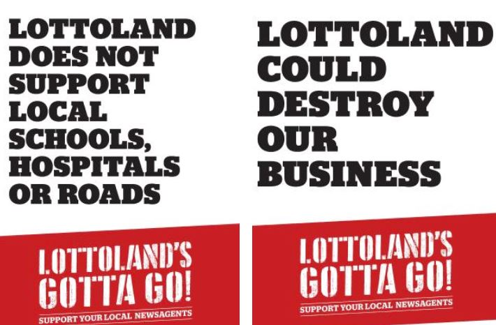 The Lottoland's gotta go! campaign has launched across news agents. Picture: SuppliedSource:Supplied