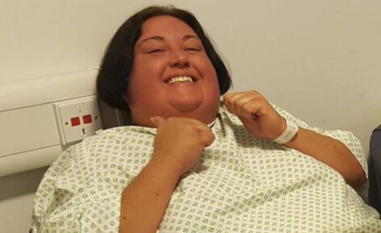 Natalie Stokes before her operation to remove a brain tumour known as Cushing's Disease.