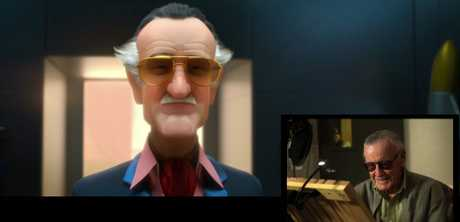 Stan Lee makes a cameo in animated form in the movie Big Hero 6.