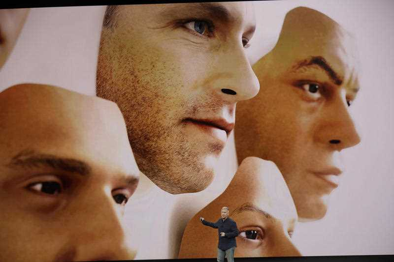 The new iPhones will feature 3D facial recognition.