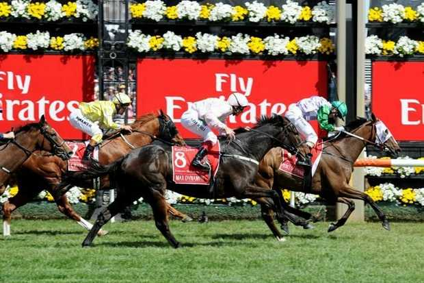 EPIC: Prince of Penzance crosses the line to win the 2015 Melbourne Cup.