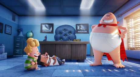 A scene from the movie Captain Underpants: The First Epic Movie.