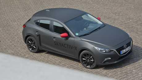 Photos of the Mazda SkyActiv test prototype in Europe