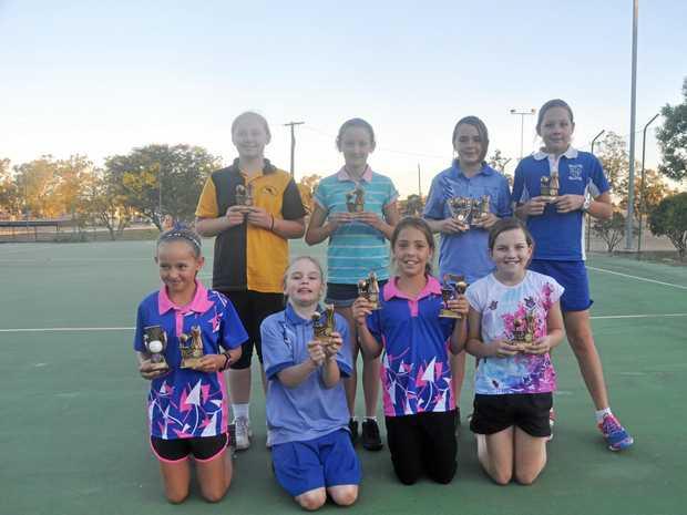 The Smileys receive their season trophies.
