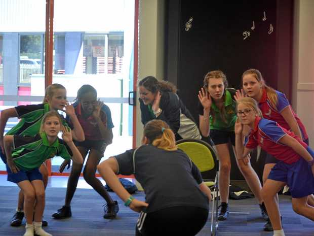 GOT THE MOVES: Students take part in workshops in preparation for their upcoming musical, Seussical Jr.