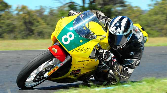 RACING: Motorcycle Sportsmen of Queensland rider Simon Dickson in action at Morgan Park Raceway last season. The club will race again this weekend.