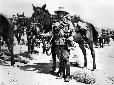 Member of the Australian 2nd Light Horse on active duty in the Middle East ca. 1917