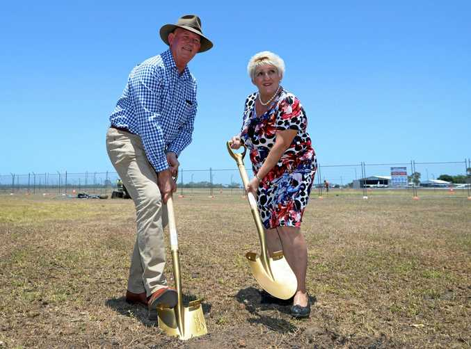 DIGGING IN: Member for Rockhampton Bill Byrne and Member for Capricornia Michelle Landry are at odds over funding the South Rockhampton flood levee.