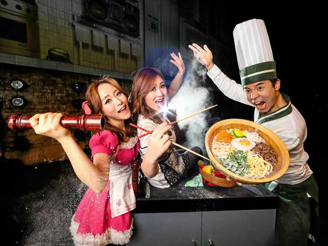 Chef: Come Dine With Us cast members Jooha Song, Minyoung Lim and Taemin Jung.
