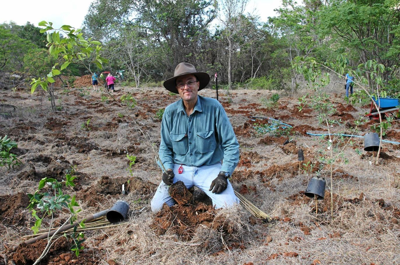 TREE PLANTER: Kelvin Wykes participated in the successful 20 Million Trees Project at Mt Etna with First Turkey up next.