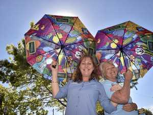 Bright brolly brings more colour to Toowoomba