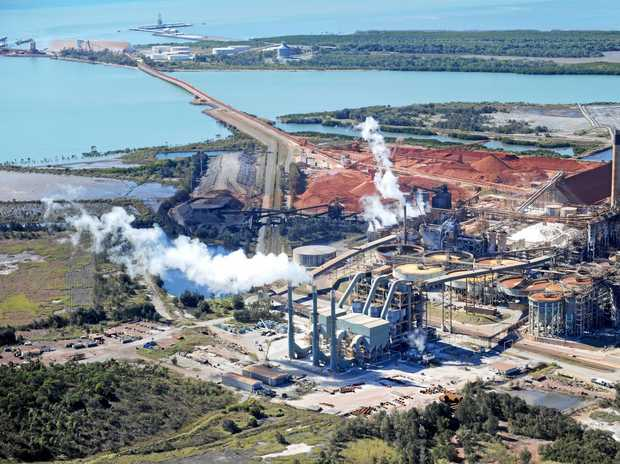 50 YEARS: An aerial View of Queensland Alumina Limited (QAL) Gladstone.