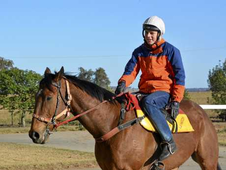 Baylee Nothdurft working towards his return to race riding at Gatton on Saturday week.