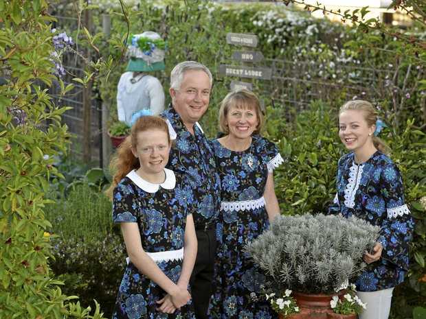 WINNING GARDEN: Mark and Cindy-Jane Ryan with their daughters Lauren (left) and Naomi in their winning Gascony St garden.