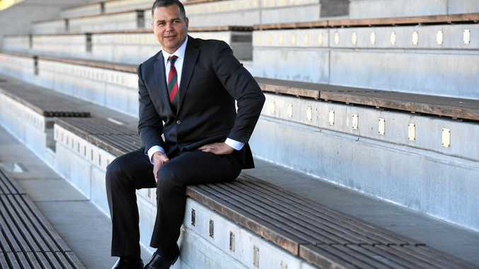 Newly-appointed South Sydney Rabbitohs coach Anthony Seibold poses for photographs at Redfern Oval in Sydney, Thursday, September 7, 2017. Seibold replaces sacked premiership winning coach, Michael Maguire. (AAP Image/Dean Lewins) NO ARCHIVING