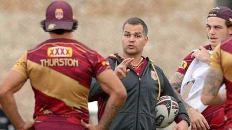Anthony Seibold at a Maroons training camp.