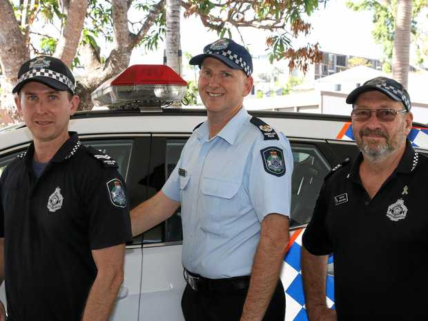 BRAVERY AWARDS: Senior Constable Dave Murray, Senior Sergeant Nathan Blain, Sergeant Barry Haran.