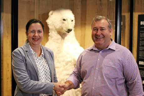 Premier Annastacia Palaszczuk and Bundaberg Mayor Jack Dempsey.Photo Contributed