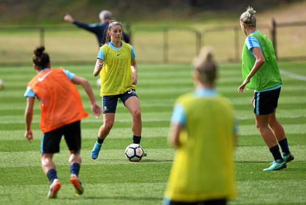 The Matildas prepare for Brazil next week.