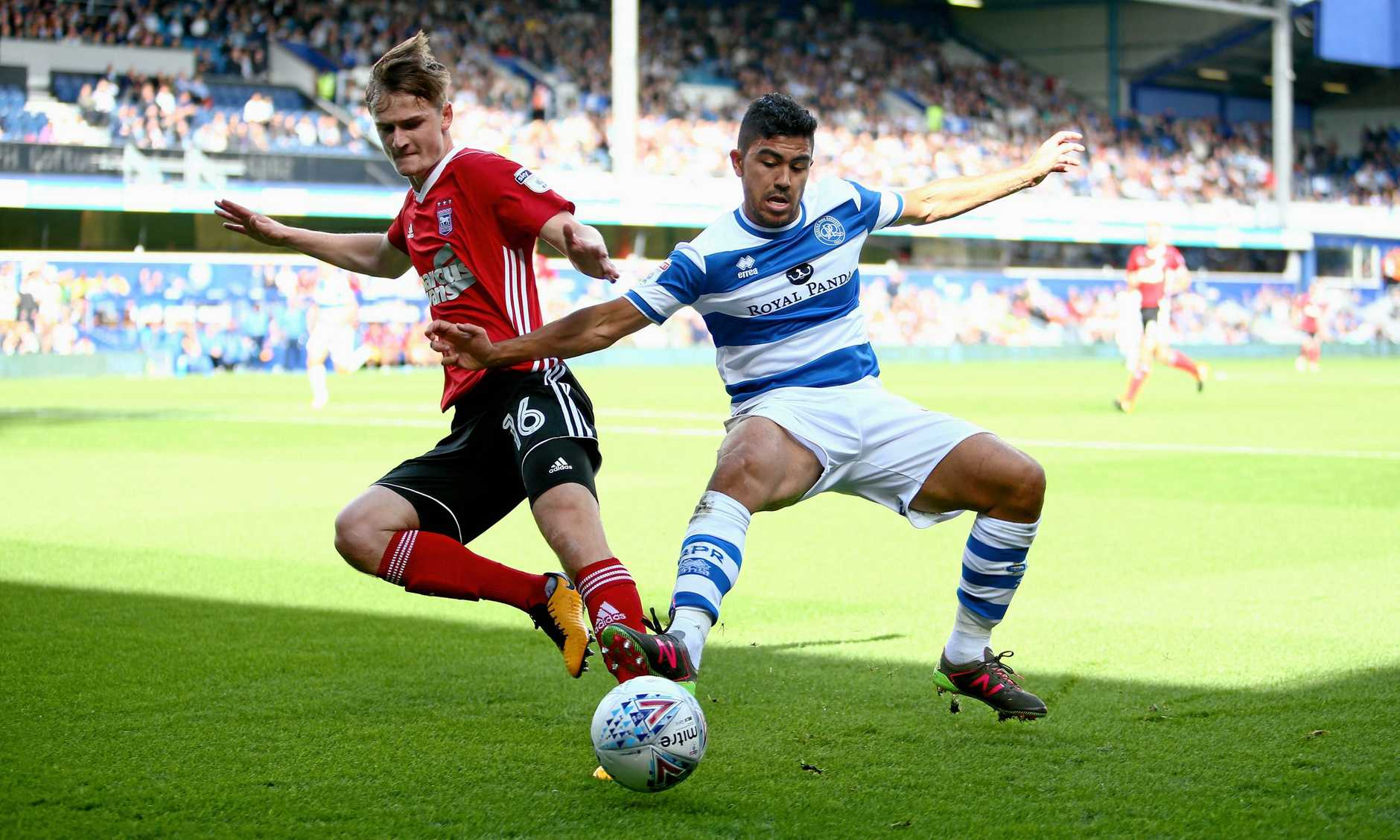 Massimo Luongo (right) has been starring for QPR in the English Championship.
