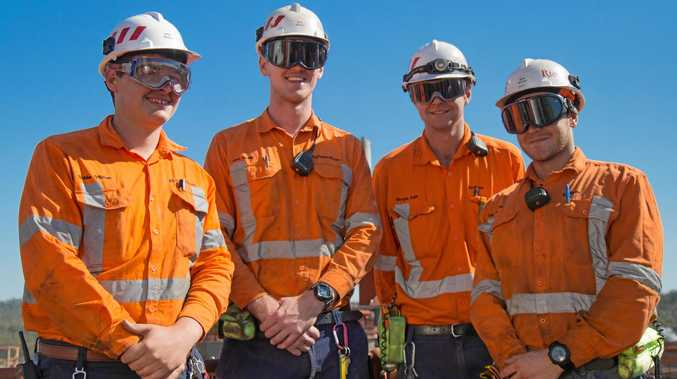 JOB READY: Rio Tinto Yarwun apprentices Richie O'Brien, Alex Smith, Morgan Dahl and Zac Piredda are keen to meet the 2018 apprenticeship programme recruits.