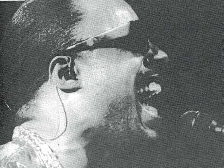 Stevie Wonder performs at the Mackay Showgrounds on November 19, 1987.
