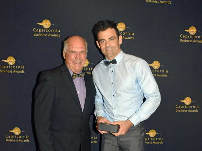 Capricornia Business Awards 2016 Best Young Entrepreneur Dan Withers presented by Mayor Bill Ludwig.