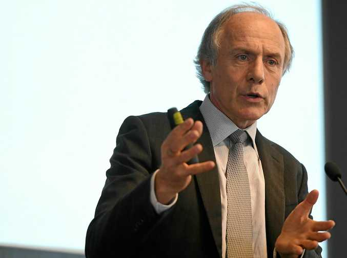 Chief Scientist Alan Finkel delivers a speech recently on his review of national energy security