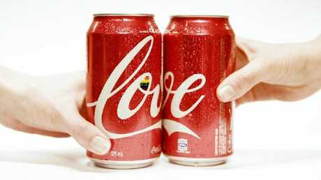 Pictures of Coke's new love cans had already begun to slip out on social media. Picture: Supplied.Source:Supplied