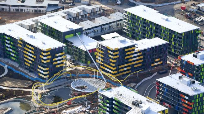 The Athletes Village is due for handover to GC2018 organisers next month, but the builder's licence has been restricted.