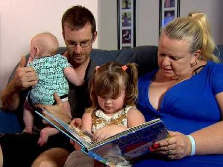 Lynn and Brad Cooper with their two children, Mia and Harrison.Source:Channel 9