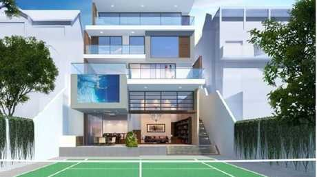 An artist's impression of the four-level mansion. Picture: Raine & HorneSource:Supplied