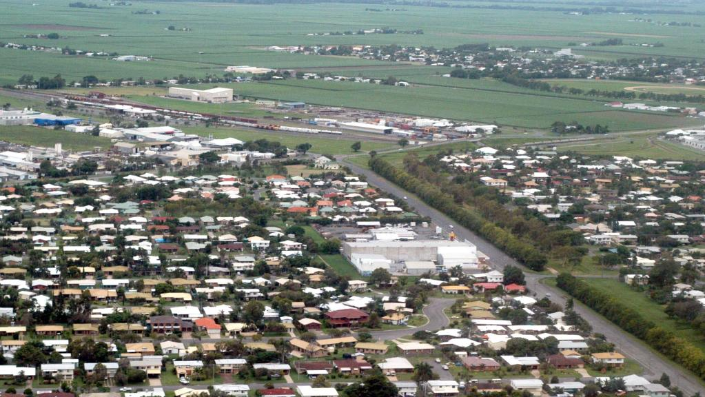 Aerial shots of Mackay, which saw house prices grow 7.4% in the June quarter. Pic: Giulio Saggin.