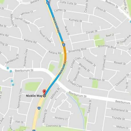 Nicklin Way commuters are experiencing delays.