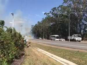 Fire on Steve Irwin Way