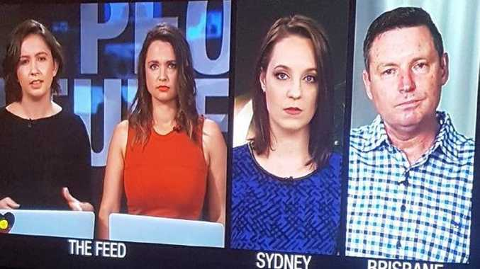 Laura Murphy-Oates, Rae Johnston, Sally Rugg and Lyle Shelton on The Feed.
