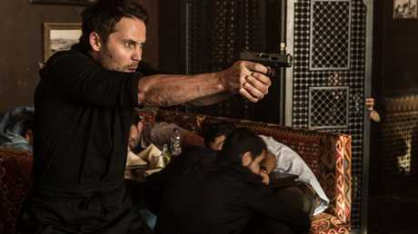 Taylor Kitsch in a scene from American Assassin.