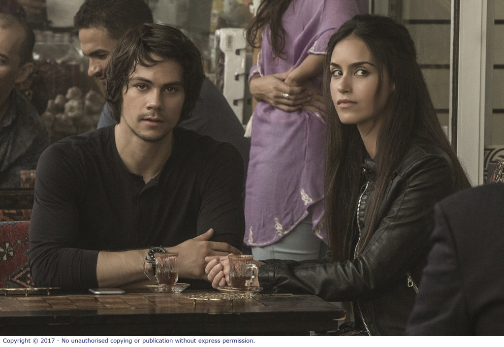 Dylan O'Brien and Shiva Negar in a scene from American Assassin.