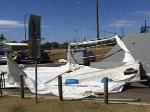 One injured, cars damaged as strong winds send tent flying at major Coast event