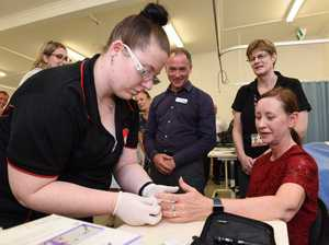 Training minister gets her blood checked at Bay TAFE