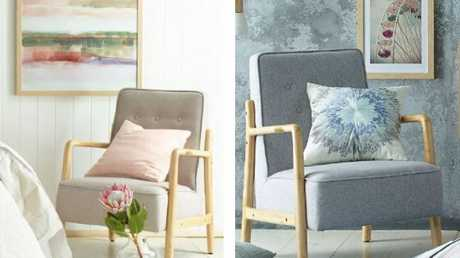 Aldi's $99 armchair walked out the door on Wednesday.Source:Supplied