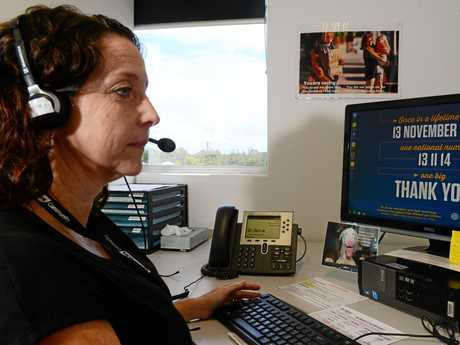 Trishia Weier is a telephone crisis supporter at Lifeline. Photo Lisa Benoit / The Morning Bulletin