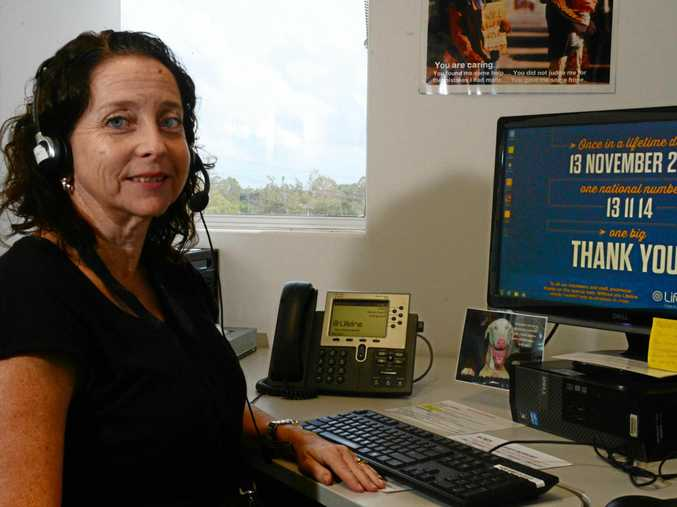 R U OK?: Trishia Weier is a telephone crisis supporter at Lifeline who could take your call today.
